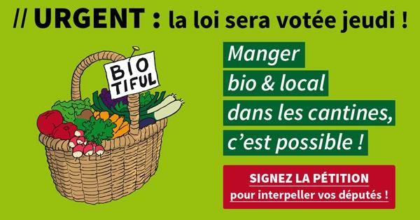 Manger bio & local dans les cantines, c'est possible !