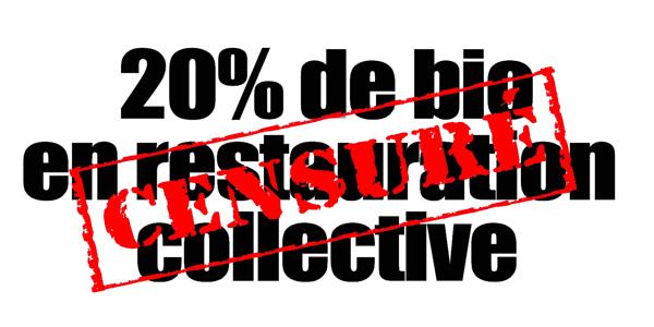 20% de bio en restauration collective : censuré !